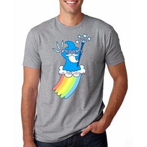 Облако Радуга Mohawk Мужчины T-Shirt Gay Pride Рубашки
