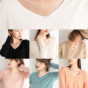 Yeni V-boyun dibe AIfW5 6W2v6 Sonbahar ve kış kadın sw giymek için 2020 gevşek kısa batı tarzı tembel tarzı kazak outsid uzun kollu