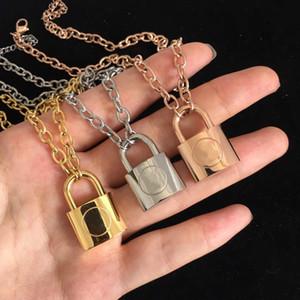 Nueva moda 316L titanio acero joyería collar collar 18k oro rosa plata collar para hombres y mujeres pareja regalo