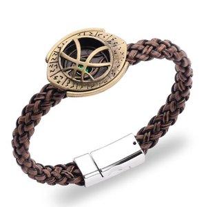 55pcs lot Strange Time Stone Knitting Bracelet The PU Leather Woven Handchain Bangle Fashion Jewelry Wholesale