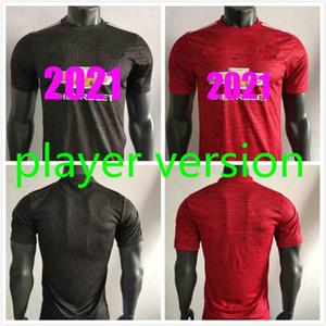 2021 Versão do jogador Jersey # 6 Pogba Mata McTominay Uniforme de futebol 2021 # 10 Rashford Lingard Camisa de Futebol Marcial