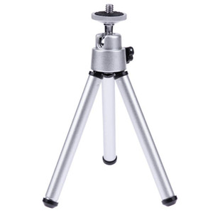 Cgjxs mini macchina fotografica del telefono treppiede con 1/4 sfera di testa della vite interfaccia desktop portatile in alluminio leggero monopiede fotocamere stand Accessori A