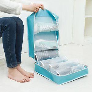 Início Dustproof Shoe armazenamento caso sacos de viagem Shoe armazenamento saco Dustproof Zipper sacola Dustproof Waterproof Shoes Bolsa BC BH0841