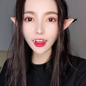 Elf Ears Halloween Fada Cosplay Acessórios Falsos Ears Props 1 par Anjo látex macio Prosthetic Pointed Dicas Partido Toy