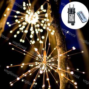 LED 문자열 Fireworks 200LEDS 600LEDS 1200LEDS 컨트롤러와 함께 8mode 옥외 안뜰 크리스마스 장식 DHL을위한 여러 가지 빛깔의 멀티 컬러