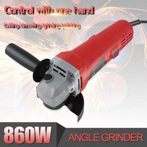 220V 1100W 11000rpm multifuncional compacto Angle Grinder Elétrica máquina de polir Ferramenta de corte para a fábrica Polimento 5gRG #