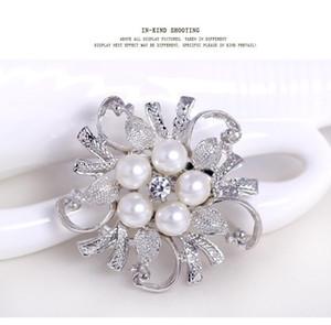 دبابيس للنساء المتأنق دبوس بروش الماس الزفاف دبابيس الذهب والفضة أنيقة المرأة Rhineston بروش