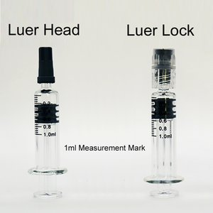 Luer lock Head injuector 1ml Glass syringes with measurement mark 510 disposable vape cartridge concentrete oil filling tool empty vaporizer