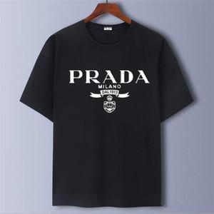 diseñador de la marca Prada camiseta de manga corta o-cuello de la ropa de alta calidad de la marca camiseta de algodón s-5XL 2020French de los hombres de los hombres de moda de lujo