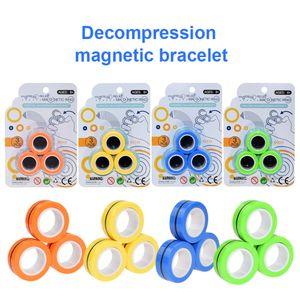 3PCS / set FinGears Anti-Stress anéis magnéticos moeda mágica Círculo Dedo Descompressão Toy Magic Prop Amigos Gathering Dropshipper