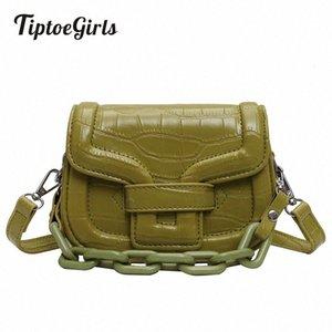 Tiptoegirls Женщины сумки на ремне Поддельный Джейд Цепи украшения Сумка плеча камень шаблон Bolso Mujer D4YA #