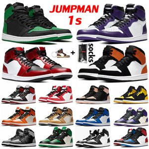 retro 1 aj Jumpman 1s High Chicago Mid Obsidian UNC Lakers Crimson Tint Shadow Hommes Femmes Chaussures de basket-ball Taille sport us 12 Baskets Baskets EUR 46