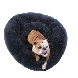 도매 큰 개는 플러시 개 사육장 고양이 매트 강아지 쿠션 매트 개 고양이 공급 집을 자고 라운드 빨 애완 동물 침대 겨울을 따뜻하게 침대