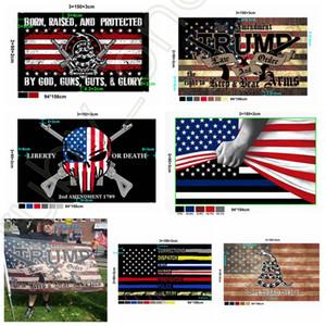 New Style Trump Flag 90*150cm USA Police 2nd Amendment America Flag Gadsden Banner USA Presidential Election Flags DHL Shipping RRA3634