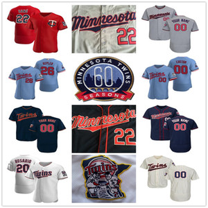 2020 Max Kepler Kirby Puckett Byron Buxton Miguel Sano Nelson Cruz Eddie Rosario Mauer Rod Carew para hombre Kid Señora camisetas de béisbol