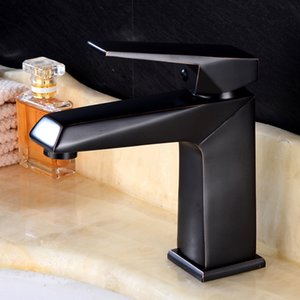 Wholesale And Retail Water Tap Black Antique Brass Bathroom Basin Faucet tap Swivel Spout Vanity Sink Mixer Free Shipping
