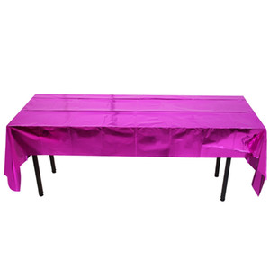 La feuille d'aluminium Table Cloth Couverture jetable Halloween Noël étanche événement Table Cloth Cover 270 * 100cm KKA8063
