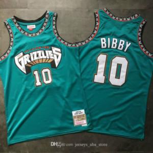 HommesVancouverGrizzlies Mike Bibby Mitchell Ness Turquoise Feuillus Classics 1998-1999 Swingman Jersey01