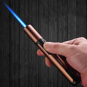 2020 nueva pluma del arma de aerosol del jet del butano encendedor de tuberías de metal de gas de cocina Soplete Turbo prueba de viento encendedor de cigarros Gadgets para los hombres SIN GAS