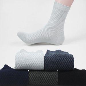 1 Çiftler Yüksek Kalite Bambu Fiber Çoraplar İş Nefes Deodorant Sıkıştırma Çorap Erkekler Uzun Büyük Boy Kış