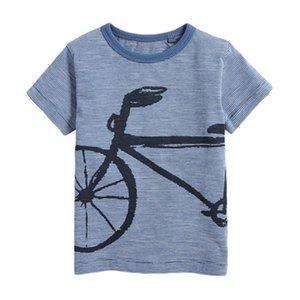 Little Blue Maven 2020 New Verão bebê Crianças Boy bicicleta manga curta O-pescoço t shirt foguete dos desenhos animados T Tops para 1-7 anos Meninos