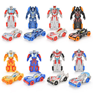 Niños juguetes 20PCS / caja de colisión transformador de coches Animación Juguetes Transformación Combinación héroe de las carreras de coches robot de coches
