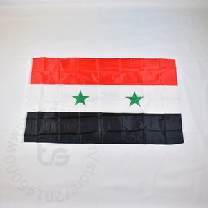 Suriye iki yıldız türü Bayrak 90x150cm% 100 Polyester 2 Tarafı Baskılı Ulusal Bayrak Suriye Spor ve Ev Dekoratif Bayraklar ve Afişler