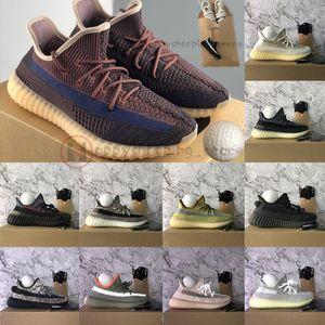 Adidas Yeezy Boost 350 Dimensione 13 Box Portachiavi Kanye West Cinder Lino Israfil Oreo Marsh Terra di lino ZYON Running Shoes Mens Donne riflettenti formatori nero Sneakers