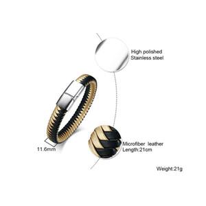FXM CCB45 Edelstahlarmband des heißen Verkaufs populäre Armband einzelnen Stahlmaterial Prism Muster Mann Armband Y200810