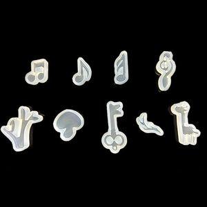 Многоразовые Музыкального Примечание Формы ювелирных изделий DIY силиконовых форм животные Изготовление ювелирных изделия DIY ручного Music Note Cute Mushroom Fondant Mold BH3174 такой анкета