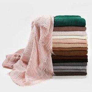 coton de chiffrement de la mode et du linge de long châle à double usage de la Foulard en soie cadeau solide crème solaire multicolore Scarfs gros