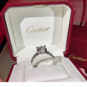 Joyería del anillo romano embutido circonio cúbico anillo de plata de la joyería femenina de lujo de los anillos de compromiso Anillo de Mujer