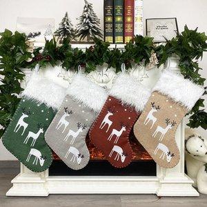 Regalo di Natale Candy Bag Calze di natale albero di Natale appeso a sospensione Decorazione di Buon Natale del partito della casa ornamenti regali creativi CGY559