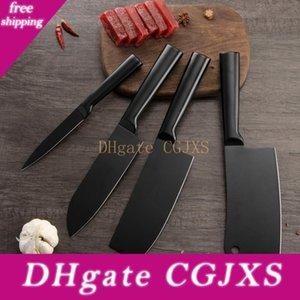 YKC Couteaux de cuisine en acier inoxydable noir Set Cleaver outil Chopper Nakiri Couteau à fruits légumes japonais Couteaux Cadeaux pour les femmes