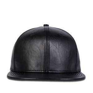 2020 New Men Womens Solid Black Baseball Cap Leather Autumn snapback hat hip hop Headwear men women adult outdoor casual cap