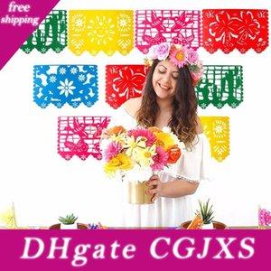 La fiesta de cumpleaños de la bandera de boda Eco Friendly mexicana Banner Banner Garland decoraciones de fiesta temática para papel picado de Halloween