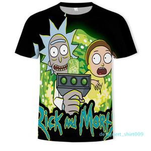 Rick e Morty Printed Shirts Mens Stylist 3D Camiseta Verão engraçado Anime Tops Mens manga curta S2 d09