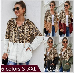 5 colors Winter Fleece Sweater Fashion Leopard Patchwork Fluffy Sweaters Warm Zipper Pullovers Women Autumn Coat Tops Plus