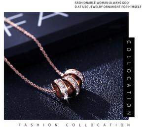 Titanyum Çelik Kolye Güney Amerika Ve Kore Sürüm Clavicle Zinciri Kaplama 18K Rose Gold zarif kolye Web Ünlü Kolye