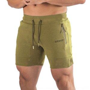 Muscle moda estética Ejercicio ejercicio de los deportes de la aptitud nuevos pantalones cortos deportes de entrenamiento físico de ocio Ofmgr de los hombres de verano de cinco po QCTwO