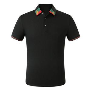 la moda de lujo clásico de abeja camisa de algodón para hombre bordado el diseñador de los hombres camiseta blanca diseñador negro camisa de polo masculina cp-025 M-3XL