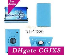 360 degrés de rotation magnétique en cuir PU Housse de protection pour Samsung Galaxy Tab 4 TAB4 7 .0 T230 T231 11 couleurs Dhl Livraison gratuite