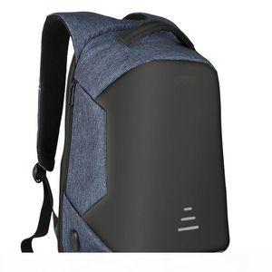 Designer-MARKROYAL Anti-theft Men Backpack For 15.6 Inch Laptop External USB School Rucksack Bag Large Capacity Urban Waterproof Mochila
