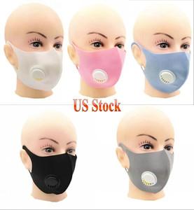 Nefes vanası Buz İpek Doğa Sporları Bisiklet Maskeler Anti Toz Ağız Kapak FY0068 ile Moda Katı Renk Tasarımcı Maskeleri Yüz Ağız Maskesi