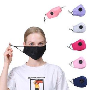 Máscara facial PM2.5 boca cubierta a prueba de polvo del respirador anti-bacteriana reutilizable lavable con vavle algodón Máscaras 100 piezas T1I2233