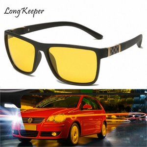 Hot Night Vision óculos de sol Men Marca Moda polarizada Noite de condução aprimorada Luz Na chuvoso Nublado Nevoeiro Dia Óculos Police Sunglasses xNfa #