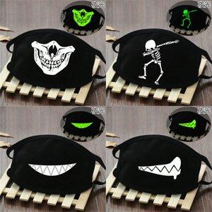 Transpirable Mueca media máscara máscaras cara de las mujeres brillan en la oscuridad esqueleto látex transpirable Máscara Mueca