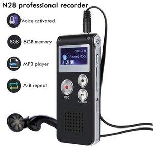 N28 8GB قابلة للشحن 4GB البسيطة USB فلاش الصوت الرقمي الصوت صوت القلم مسجل مع مشغل MP3 650Hr الإملاء الهاتف