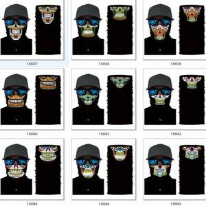 Face Cycling Seamless Outdoor Turban Skull Magic Multifunction Neck Riding Mask Half Warmer Scarf Halloween Ockbk Costume Bde2011 Xcoji
