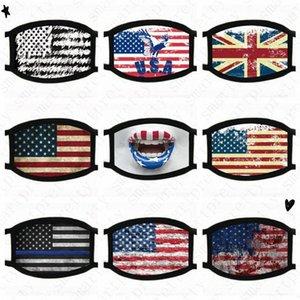 USA Amerika-Flaggen-Adler Trump Druckmasken Luxus Waschbar Cotton Gesichtsmaske atmungsaktiv Sommer-Frauen-Mann Outdoor Radsport Masken-Abdeckung D520 CkDe #